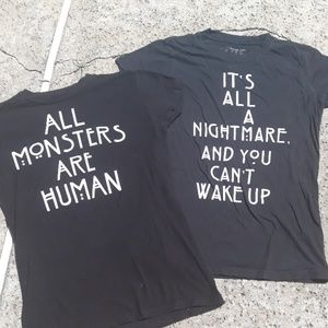 American Horror Story -2 black tees size s